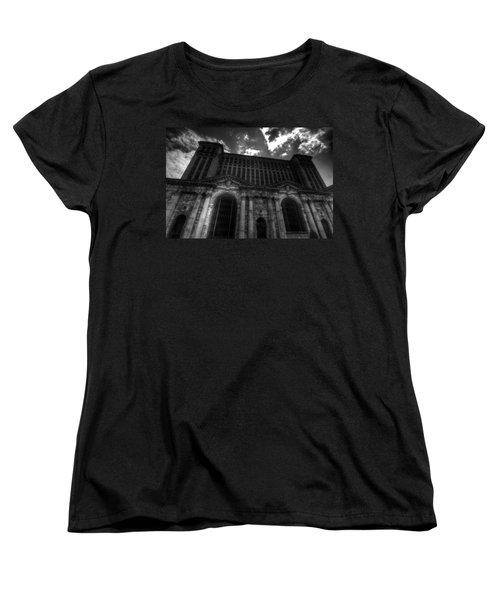 Michigan Central Station Highrise Women's T-Shirt (Standard Cut) by Jonathan Davison