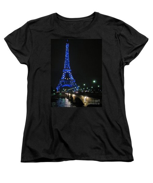 Women's T-Shirt (Standard Cut) featuring the photograph Midnight Blue by Suzanne Oesterling