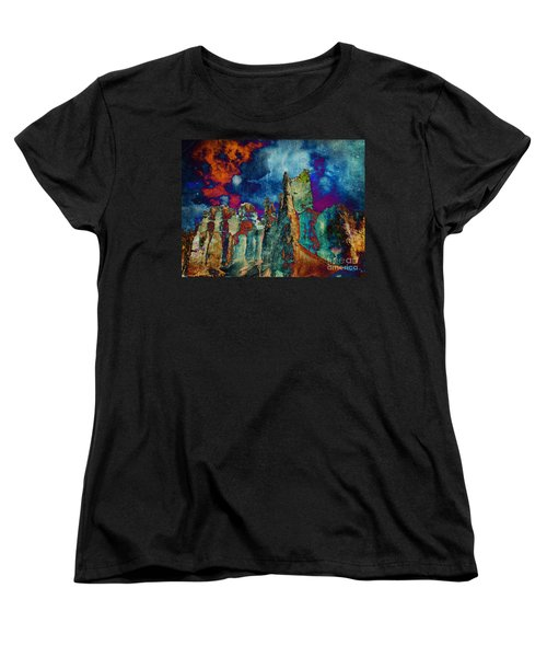 Midnight Fires Women's T-Shirt (Standard Cut) by Meghan at FireBonnet Art