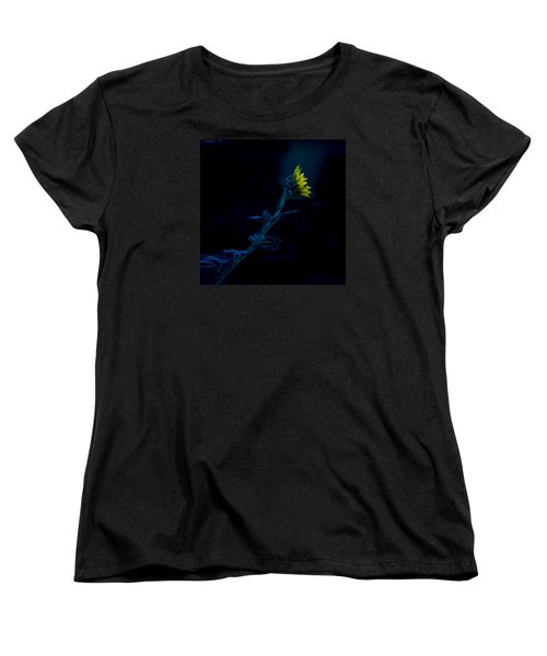 Midnight Sunflower Women's T-Shirt (Standard Cut) by Darryl Dalton