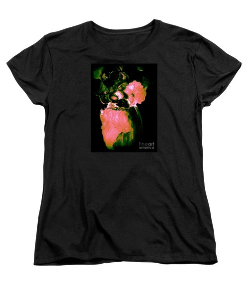Women's T-Shirt (Standard Cut) featuring the painting Midnight Visit by Bill OConnor