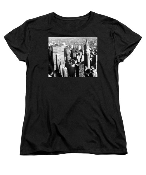 Midtown Manhattan 1972 Women's T-Shirt (Standard Cut) by Steve Archbold