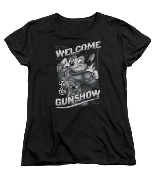 Mighty Mouse - Mighty Gunshow Women's T-Shirt (Standard Cut) by Brand A