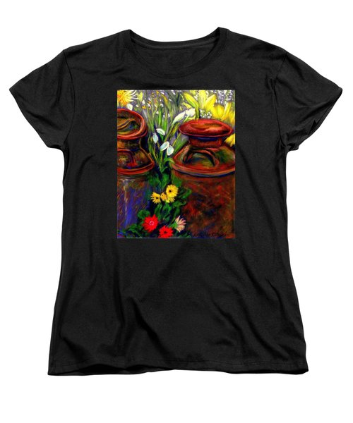 Milk Cans At Flower Show Sold Women's T-Shirt (Standard Cut) by Antonia Citrino