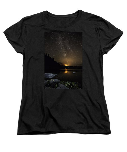 Milky Way At Crafnant Women's T-Shirt (Standard Cut) by Beverly Cash
