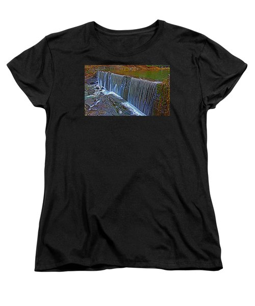 Mill Pond Spillover  Women's T-Shirt (Standard Cut) by Tom Culver