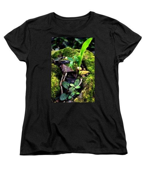 Women's T-Shirt (Standard Cut) featuring the photograph Miniature Garden by Jim Thompson