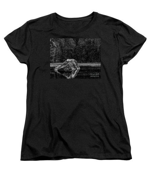 Mirror Lake Boulder Women's T-Shirt (Standard Cut) by Terry Garvin