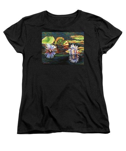 Mirrored Lilies Women's T-Shirt (Standard Cut)
