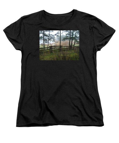 Misty Flats Women's T-Shirt (Standard Cut) by Cheryl Hoyle