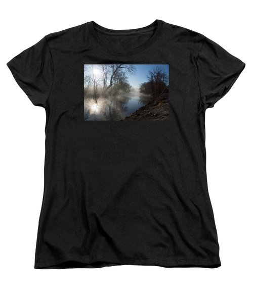 Misty Morning Along James River Women's T-Shirt (Standard Cut) by Jennifer White
