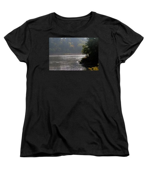 Women's T-Shirt (Standard Cut) featuring the photograph Misty Morning by Kay Novy