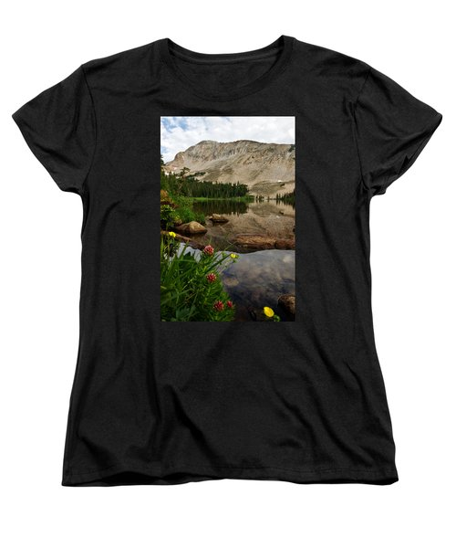 Women's T-Shirt (Standard Cut) featuring the photograph Mitchell Lake Reflections by Ronda Kimbrow