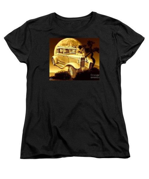 Model T Fantasy  Women's T-Shirt (Standard Cut) by Saundra Myles