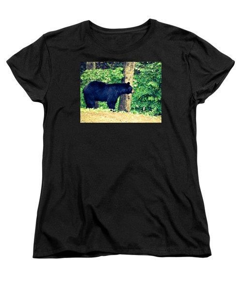 Women's T-Shirt (Standard Cut) featuring the photograph Momma Bear by Jan Dappen