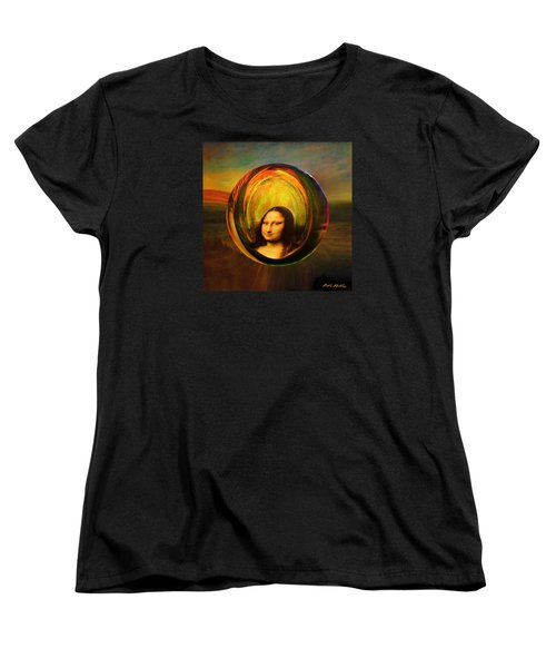 Women's T-Shirt (Standard Cut) featuring the painting Mona Lisa Circondata by Robin Moline
