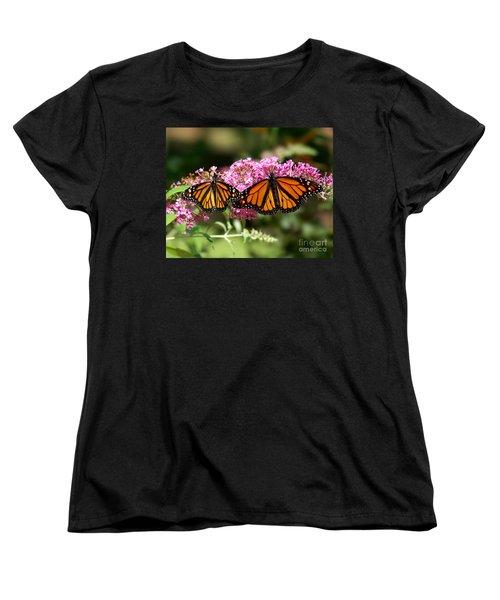Monarch Butterflies Women's T-Shirt (Standard Cut) by Liz Masoner