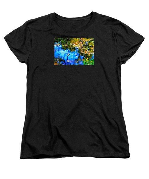Women's T-Shirt (Standard Cut) featuring the photograph Monet's Garden by Ira Shander