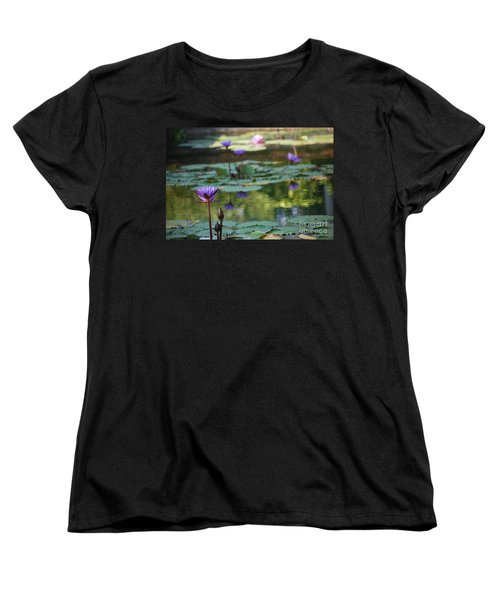 Monet's Waterlily Pond Number Two Women's T-Shirt (Standard Cut) by Heather Kirk
