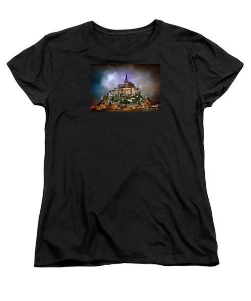 Mont Saint Michel   Women's T-Shirt (Standard Cut) by Andrzej Szczerski