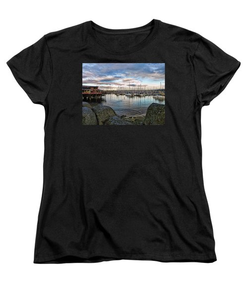 Monterey Marina California Women's T-Shirt (Standard Cut) by Kathy Churchman