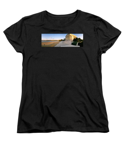 Monument At The Riverside, Jefferson Women's T-Shirt (Standard Cut) by Panoramic Images