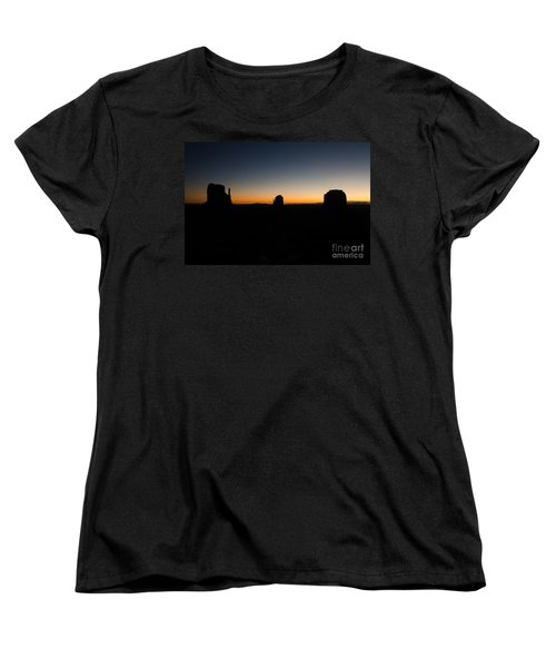 Women's T-Shirt (Standard Cut) featuring the photograph Monument Valley Sunrise by Jeff Kolker