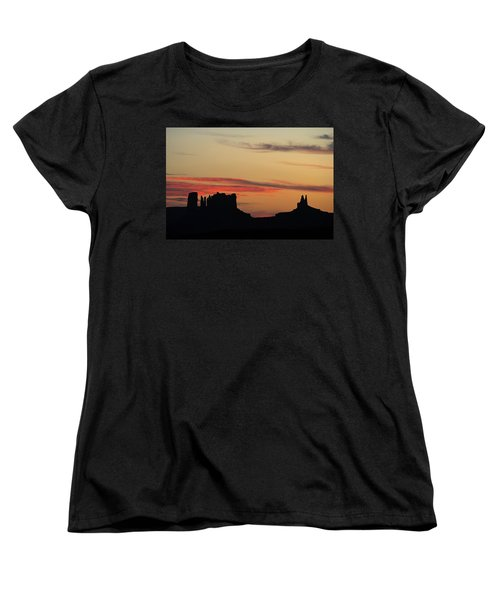 Monument Valley Sunset 1 Women's T-Shirt (Standard Cut) by Jeff Brunton
