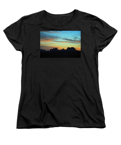 Monument Valley Sunset 4  Women's T-Shirt (Standard Cut) by Jeff Brunton