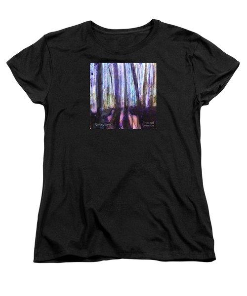 Moody Woods Women's T-Shirt (Standard Cut) by Robin Maria Pedrero