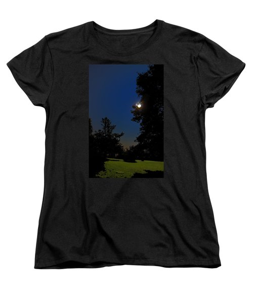 Women's T-Shirt (Standard Cut) featuring the photograph Moon And Pegasus by Greg Reed