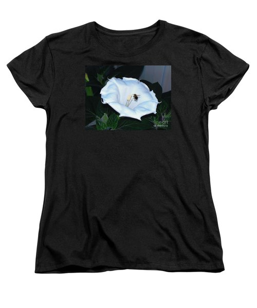 Women's T-Shirt (Standard Cut) featuring the photograph Moon Flower by Thomas Woolworth