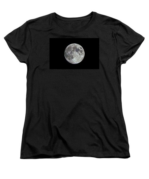 Women's T-Shirt (Standard Cut) featuring the photograph Moon Hdr by Greg Reed