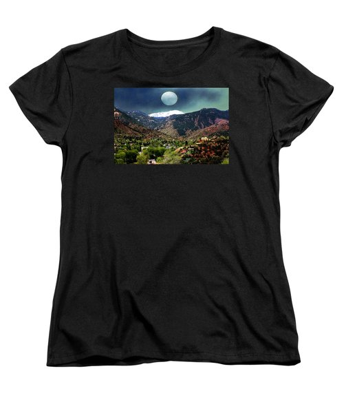 Moon Over Manitou I Women's T-Shirt (Standard Cut) by Lanita Williams