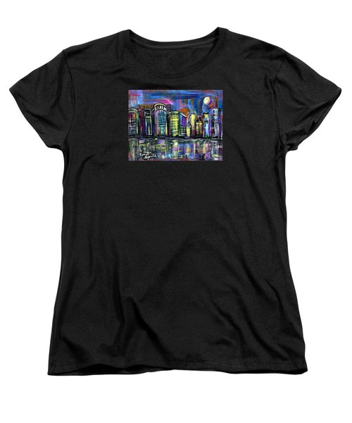 Moon Over Orlando Women's T-Shirt (Standard Cut) by Everett Spruill