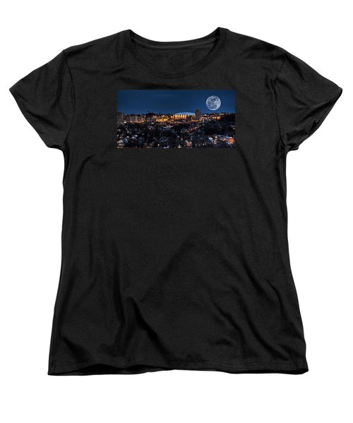 Moon Over The Carrier Dome Women's T-Shirt (Standard Cut) by Everet Regal