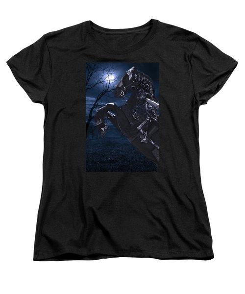 Moonlit Warrior Women's T-Shirt (Standard Cut) by Wes and Dotty Weber