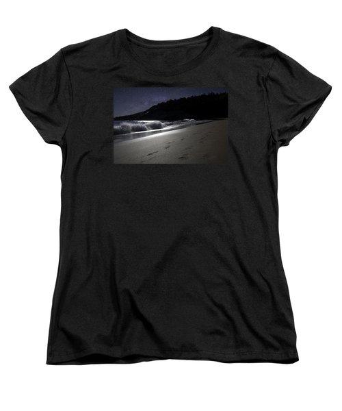 Moonshine Beach Women's T-Shirt (Standard Cut) by Brent L Ander