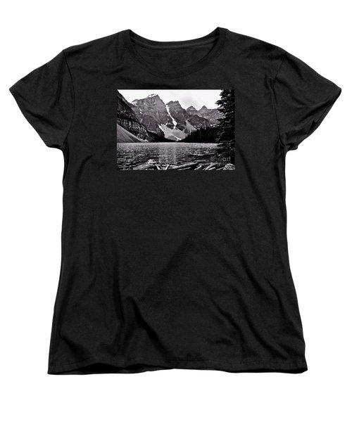 Moraine Lake Women's T-Shirt (Standard Cut) by Linda Bianic