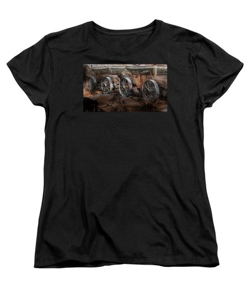 More Wagons East Women's T-Shirt (Standard Cut) by Gunter Nezhoda