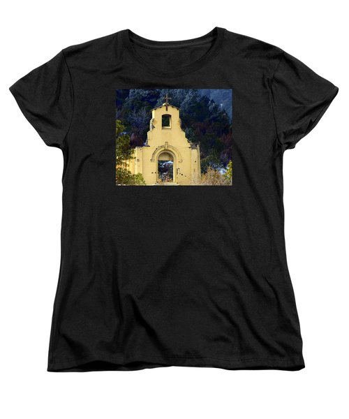 Women's T-Shirt (Standard Cut) featuring the photograph Mountain Mission Church by Barbara Chichester