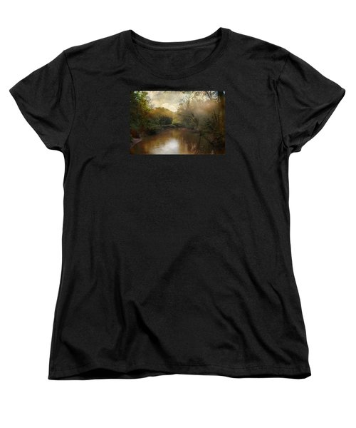Women's T-Shirt (Standard Cut) featuring the photograph Morning At The River by John Rivera