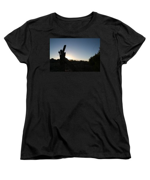 Women's T-Shirt (Standard Cut) featuring the pyrography Morning by David S Reynolds
