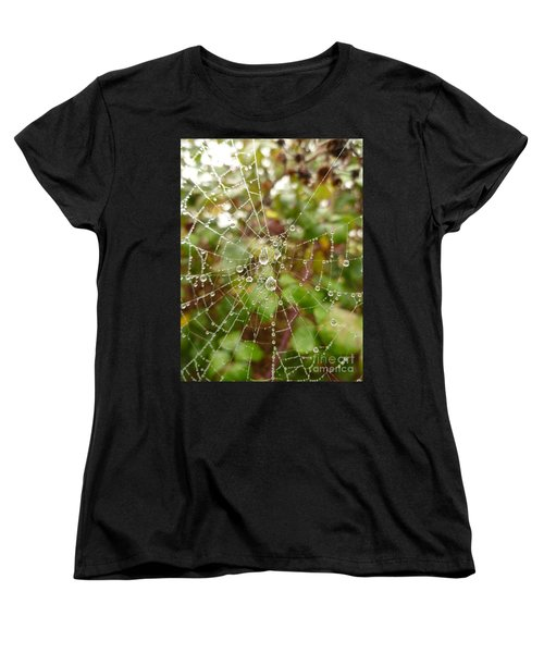 Women's T-Shirt (Standard Cut) featuring the photograph Morning Dew by Vicki Spindler