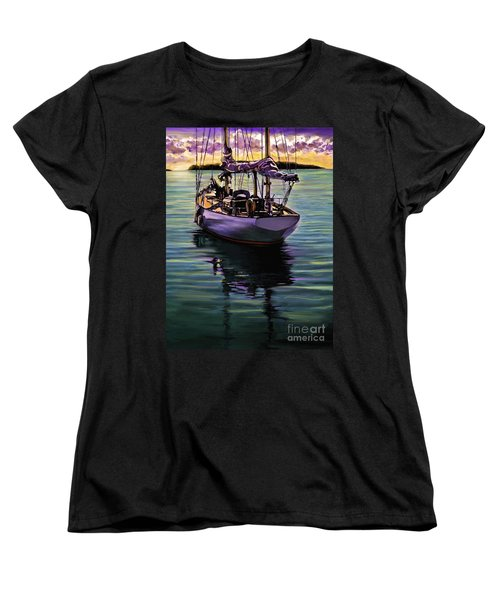 Women's T-Shirt (Standard Cut) featuring the painting Morning Has Broken by David  Van Hulst