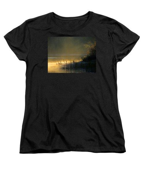 Women's T-Shirt (Standard Cut) featuring the photograph Morning Mist by Dianne Cowen