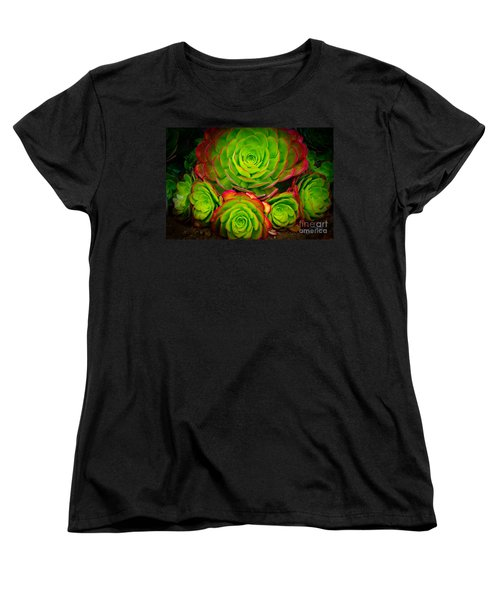Morro Bay Echeveria Women's T-Shirt (Standard Cut) by Terry Garvin