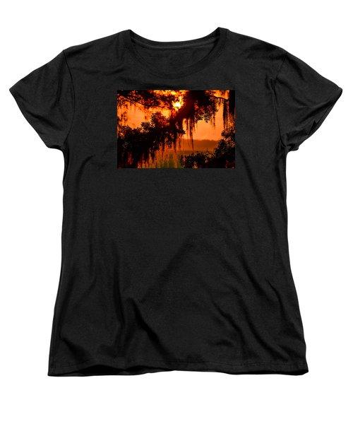 Moss Meets Sun  Women's T-Shirt (Standard Cut) by Mary Ward
