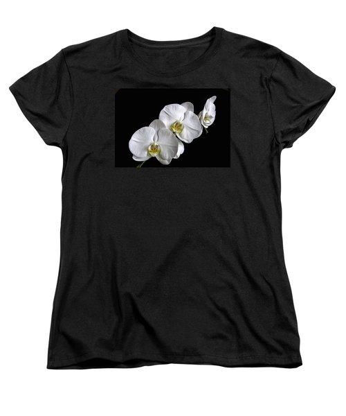 Moth Orchid Trio Women's T-Shirt (Standard Cut) by Ron White
