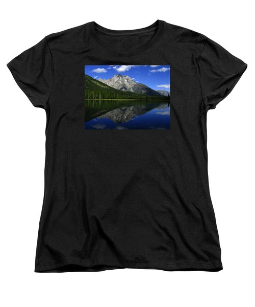 Women's T-Shirt (Standard Cut) featuring the photograph Mount Moran And String Lake by Raymond Salani III